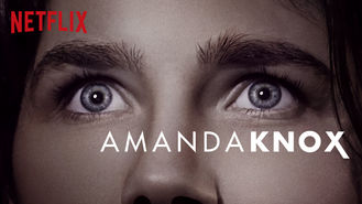 Netflix box art for Amanda Knox