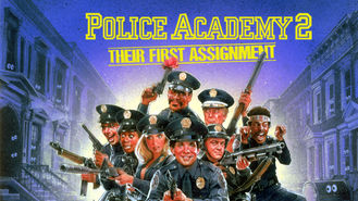 Netflix box art for Police Academy 2: Their First Assignment