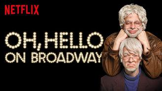 Netflix box art for Oh, Hello On Broadway