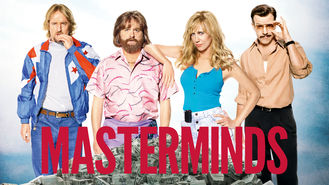 Netflix box art for Masterminds