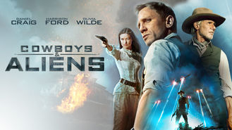 Netflix box art for Cowboys & Aliens